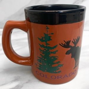 Vintage Colorado Moose & Pint Tree Coffee Mug